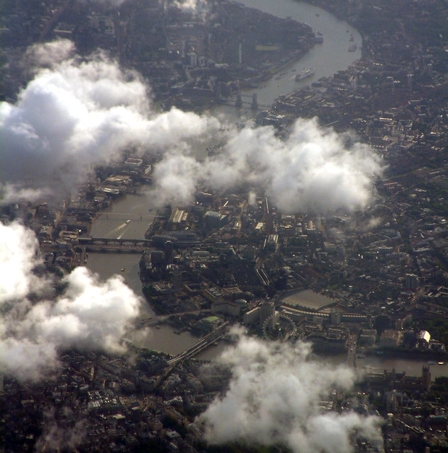 central london from the sky