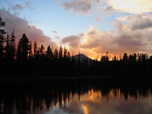 camping trees sunset mountain lake nature clouds utah fishing uintas
