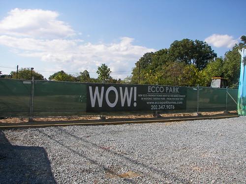 Ecco Park Condo promotion sign, Takoma DC