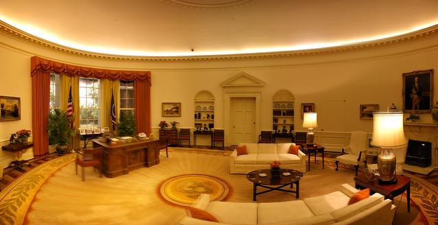 George W Bush Oval Office Decor