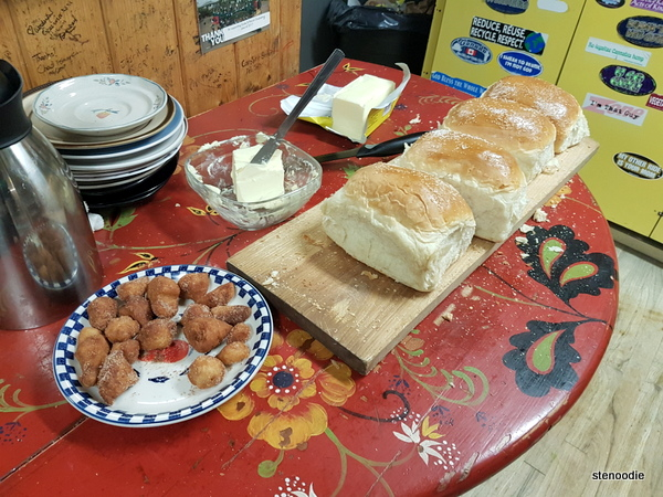 Bread and butter and cinnamon balls