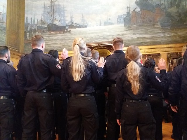 Vereidigung von Polizistinnen und Polizisten 12.4.18