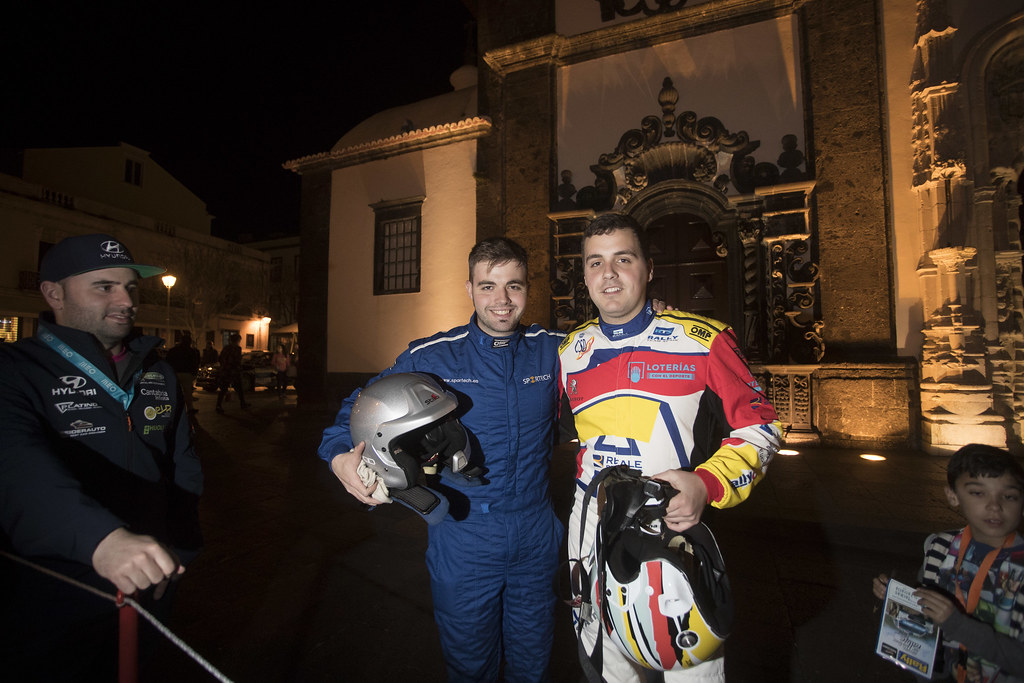 48 LLARENA Efren (esp), FERNANDEZ Sara (esp), Team rallye spain , Peugeot 208 R2, portrait during the 2018 European Rally Championship ERC Azores rally,  from March 22 to 24, at Ponta Delgada Portugal - Photo Gregory Lenormand / DPPI