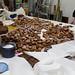 Un dels alicients gastronòmics del Berenar Literari són els brunyols que elabora El Cucut. Crèdit: Llibreria El Cucut.
