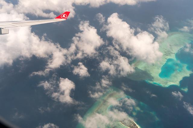 Anflug auf die Malediven