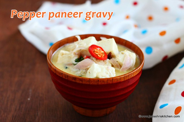 Paneer pepper gravy