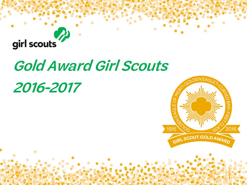 2016-2017 Gold Award Girl Scouts