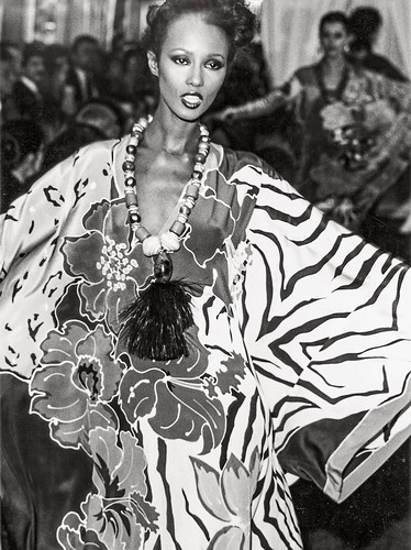 Caftan of Hand-Painted Silk Crepe de Chine, summer 1982, courtesy of Oscar de la Renta, LLC. From De la Renta's legacy of grace and elegance lives on