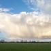 Rain clouds over Tealham Moor