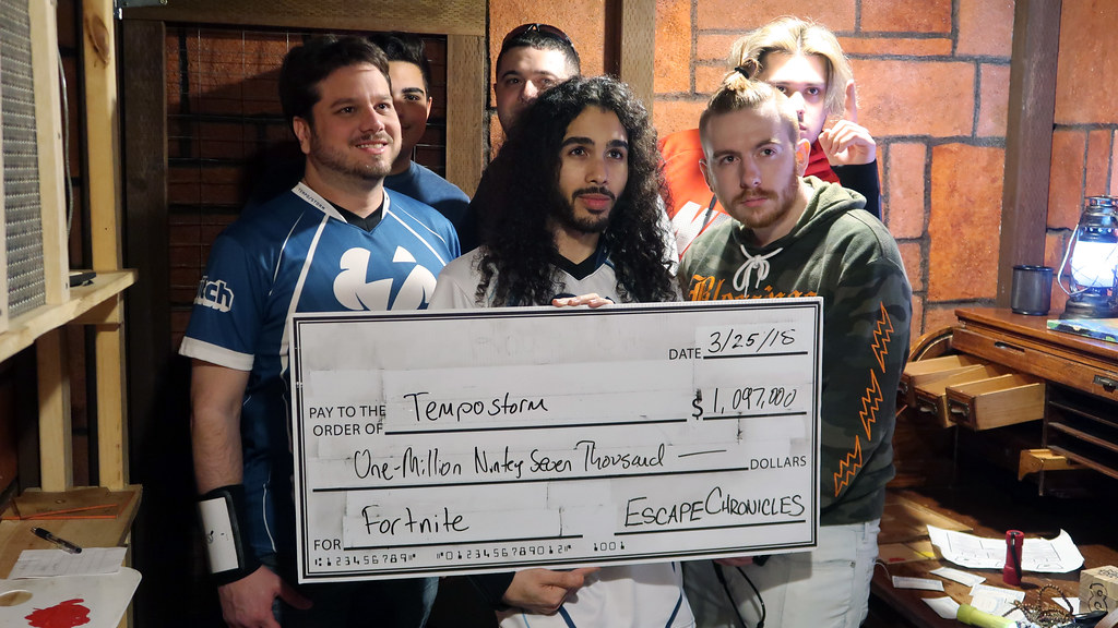 The team recovered almost $1.1M worth of treasure while in the escape room