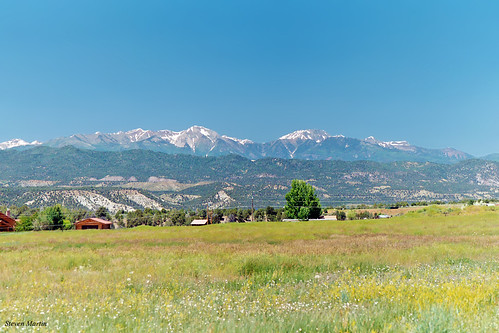 landscape scenery field meadow mountains mountainrange durango colorado