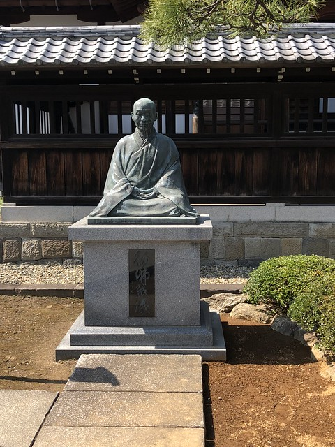 Statue of a monk at Sengakuji Temple