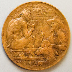 James Whitcomb Riley medal reverse