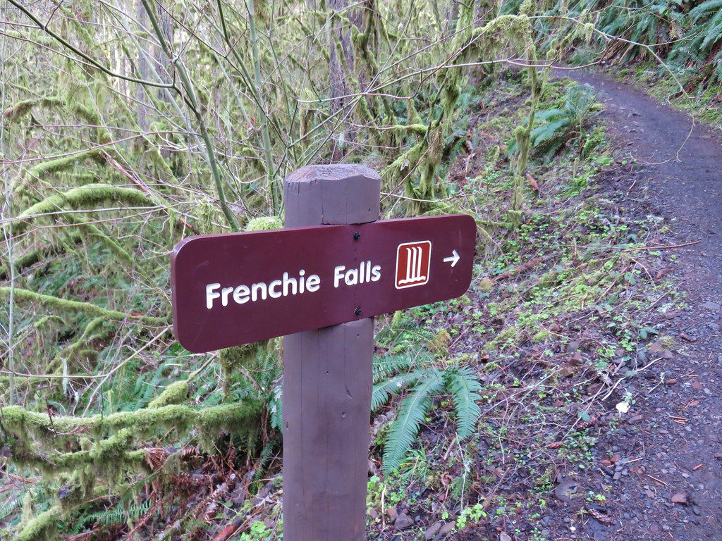 Sign for Frenchie Falls