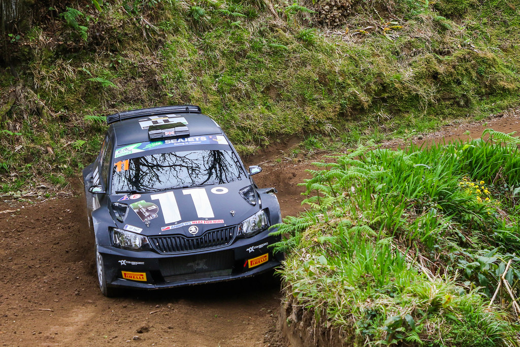 11 INGRAM Chris (gbr), WHITTOCK Ross (gbr) , TOKSPORT WRT, SKODA FABIA R5, action during the 2018 European Rally Championship ERC Azores rally,  from March 22 to 24, at Ponta Delgada Portugal - Photo Jorge Cunha / DPPI