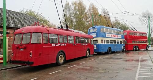 Front -  KVH 219  1956  BUT 9641T 9641T601 Middle - GHN 574  1944 Karrier W4 50106  Rear - EV 6757  1963  BUT (Leyland) RETB1 S09926