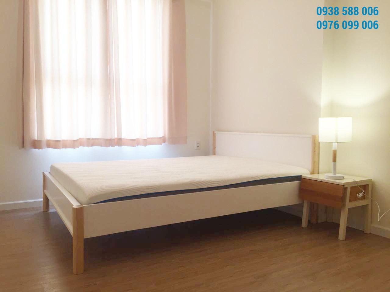 Ảnh thực tế phòng ngủ trong căn hộ M-one 2 phòng ngù cho thuê, dt 62m2.