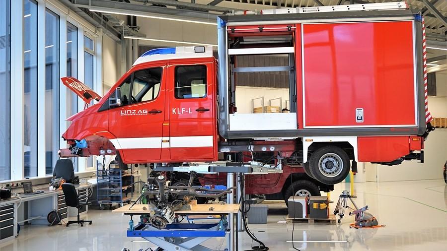 прво електрично противпожарно возило линц 4