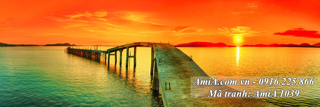 AmiA 1039 - Tranh quê hương một tấm cây cầu dài
