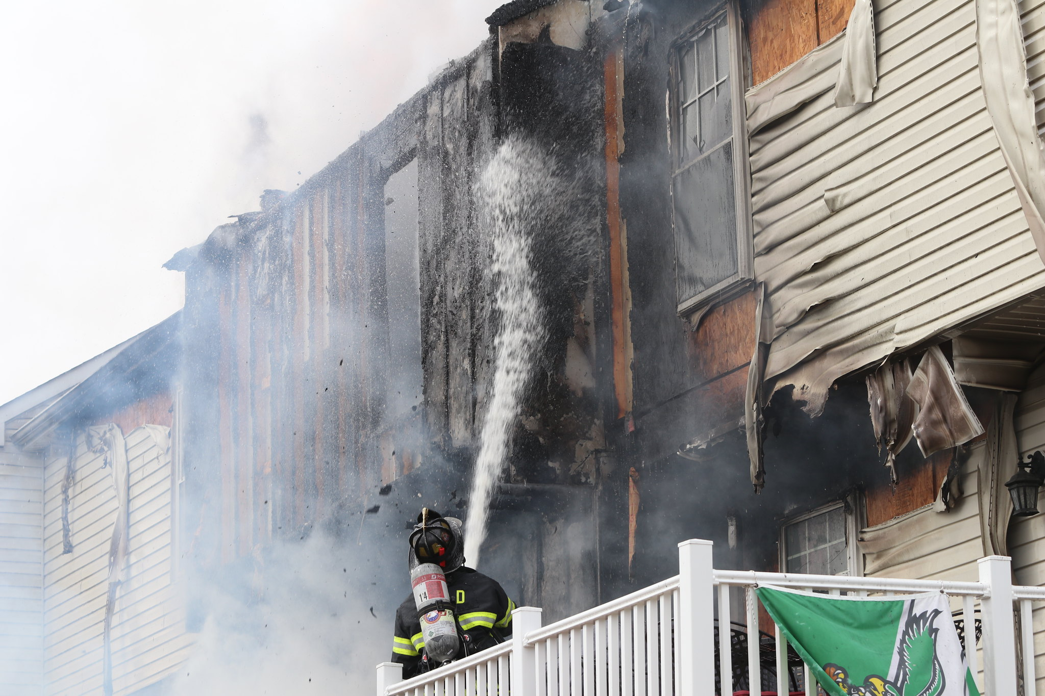Fire destroys townhouse community south of campus during Spring Break, displacing families