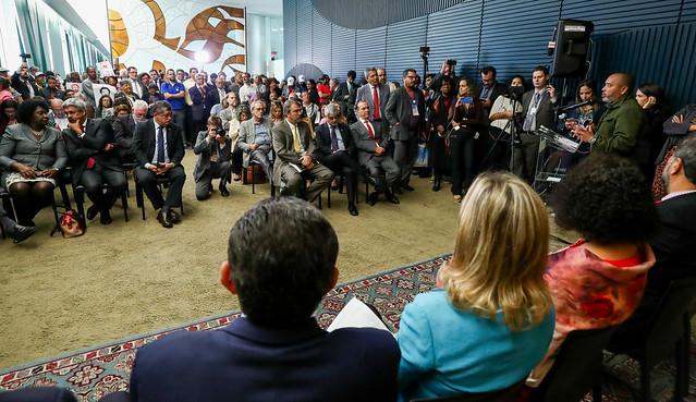 Frente que reúne sete partidos progressistas e organizações populares foi lançada na Câmara Federal, em Brasília - Créditos: Lula Marques/PT na Câmara