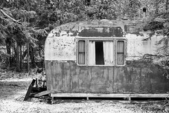 Old Travel Trailer in Michigan