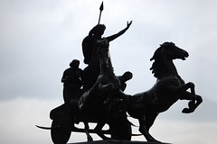"Half Silhouette of ""Boadicea and Her Daughters"""