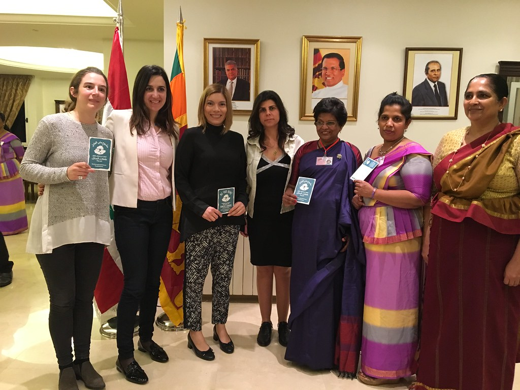"2018-3-22 Lebanon: IDWF launching the ""My Fair Home"" Campaign at the Sri Lanka Residence in Beirut"
