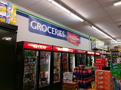 Another view of the grocery signage (and cases)