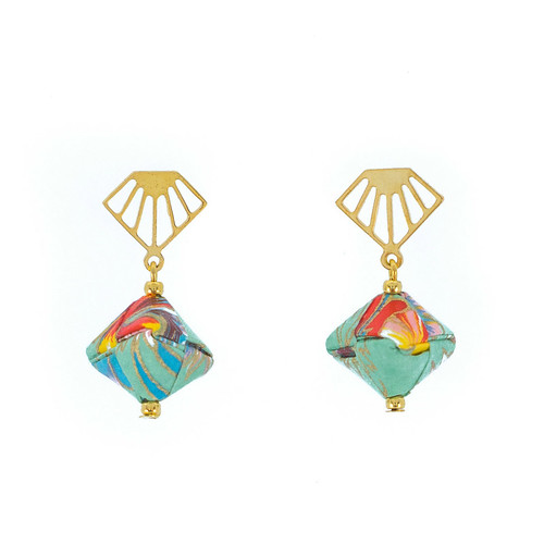 Origami Earrings by Mayumi Origami