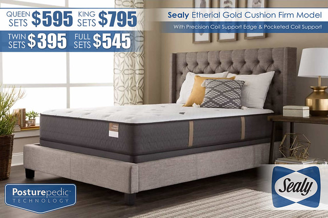 Etherial Gold Cushion Firm_Mattress Sets