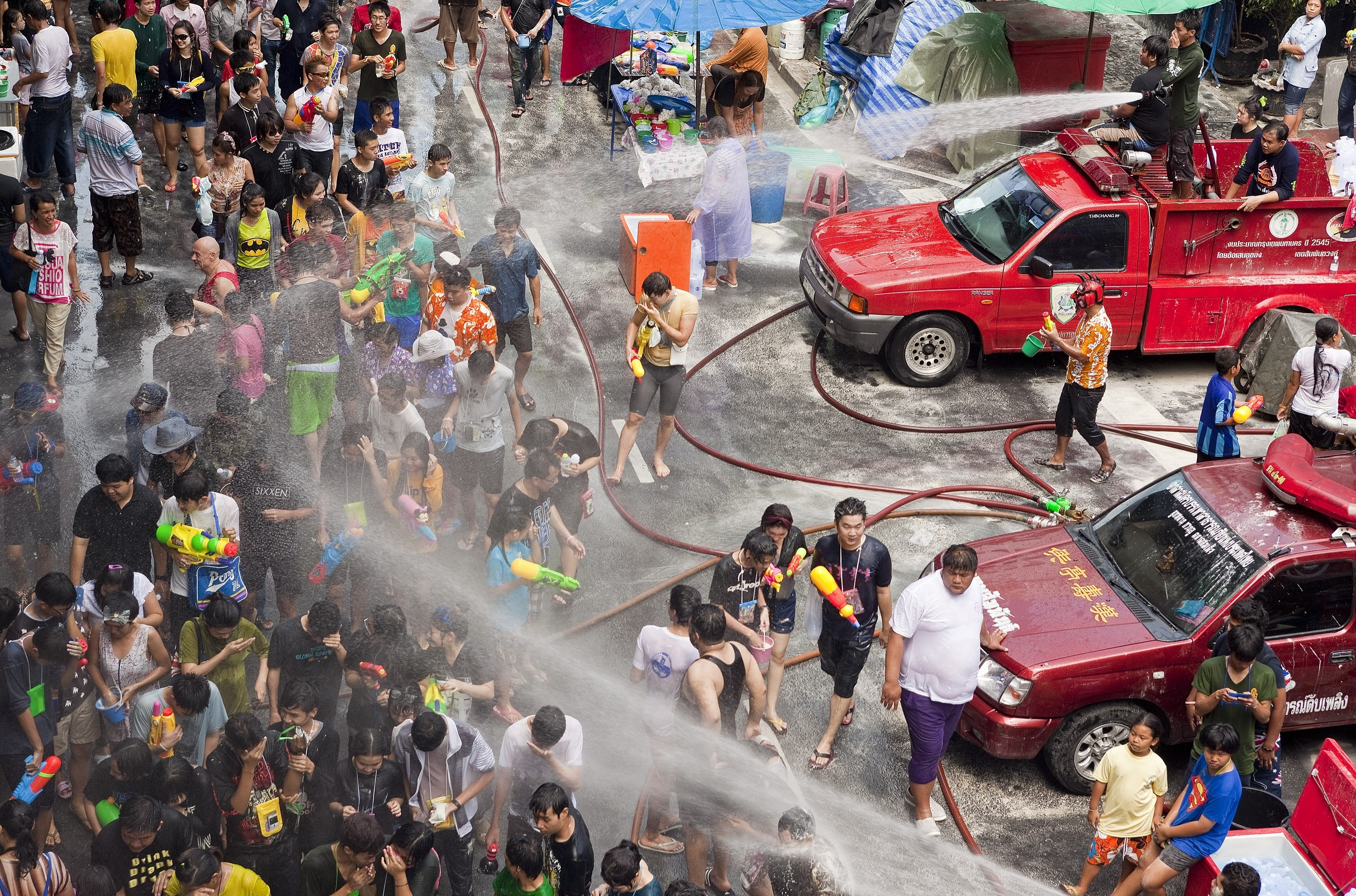 Songkran in Thailand. Photo taken on April 14, 2013.