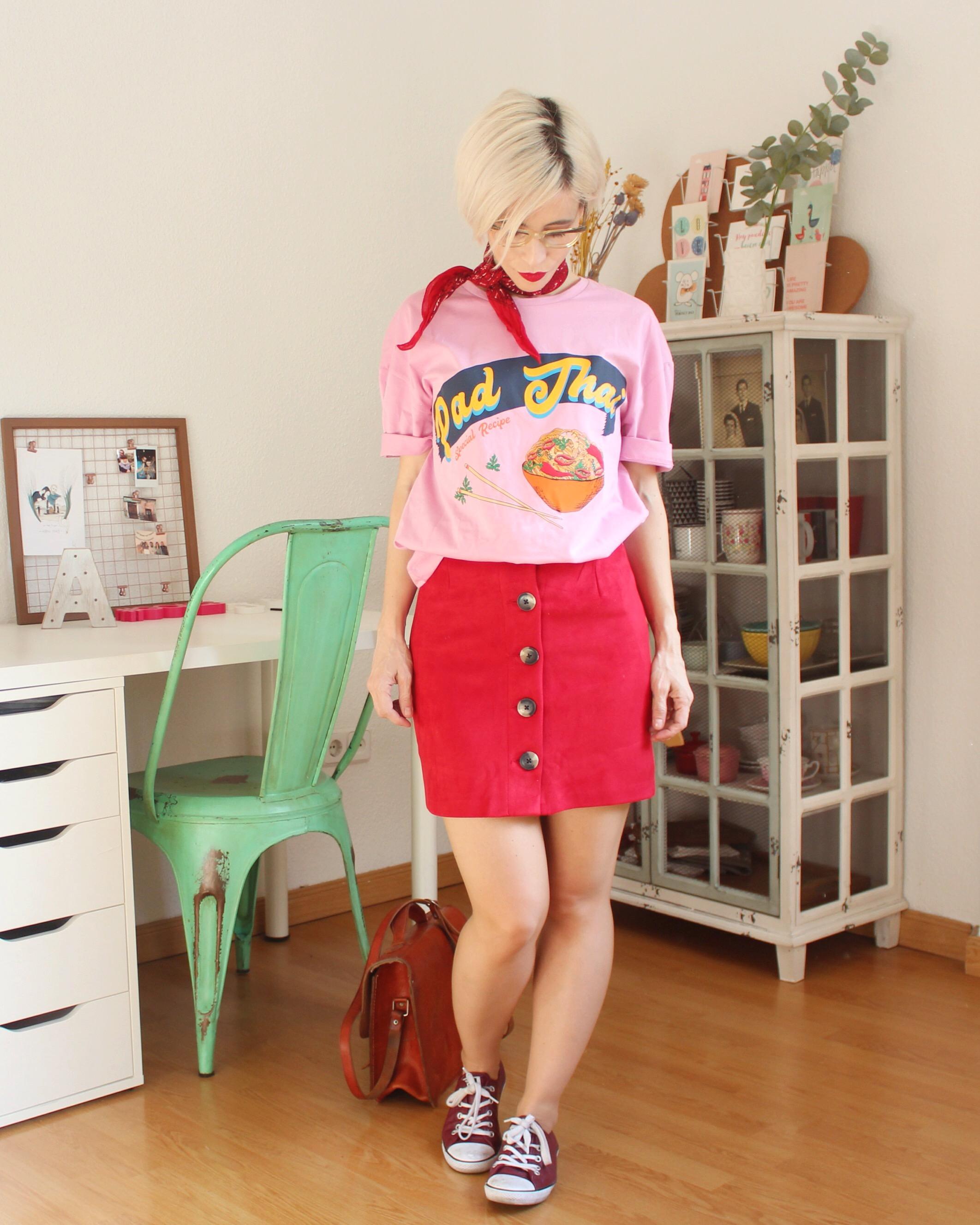 Rosa y rojo outfit