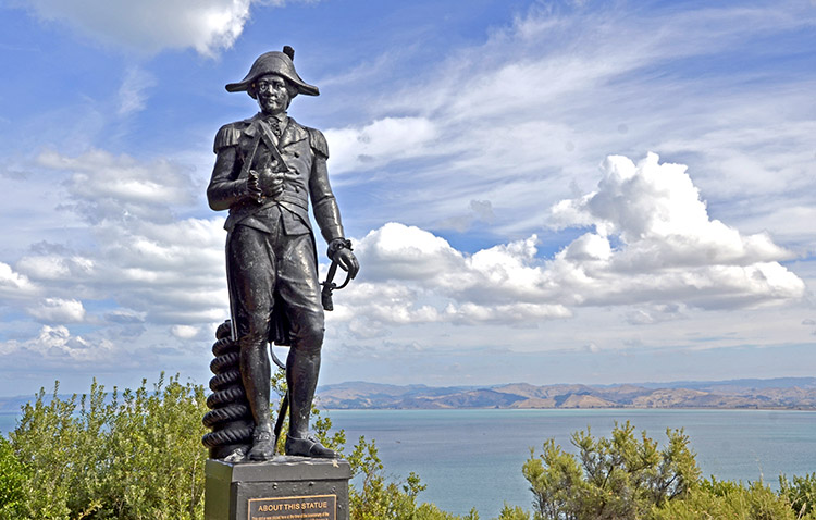 Statue von Captain Cook, Kaiti Hill, Gisborne