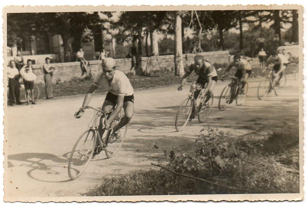 Widmer in azione durante una gara (foto inviata dal figlio Marco)