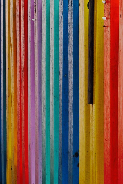 Colorful Picket Fence in, Sony ILCE-6300, Tamron 18-200mm F3.5-6.3 Di III VC