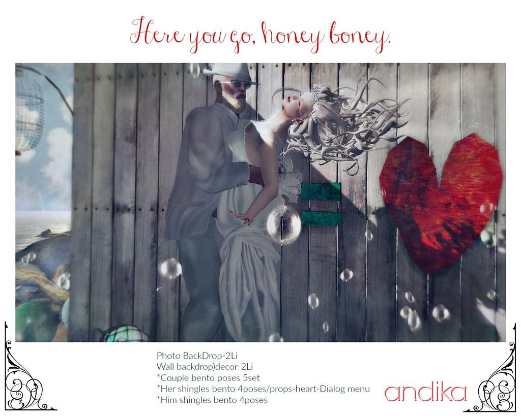 AD andika[Here you go, honey boney.]photo backdrop
