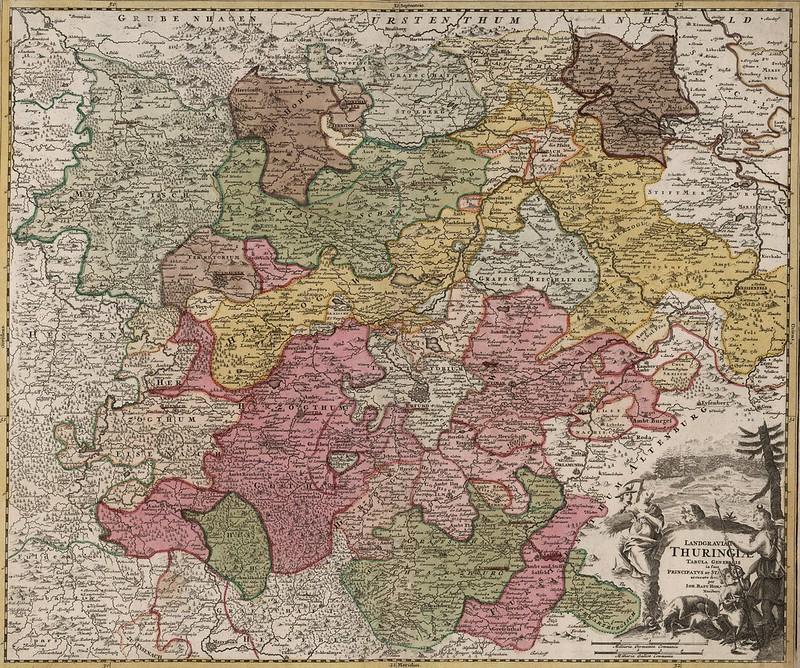 Johann Baptist Homann - Thuringiae (c.1725)