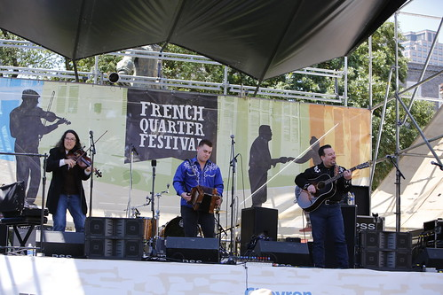 Midcity Aces at Day 4 of French Quarter Fest 2018 - 4.15.18. Photo by Michele Goldfarb.