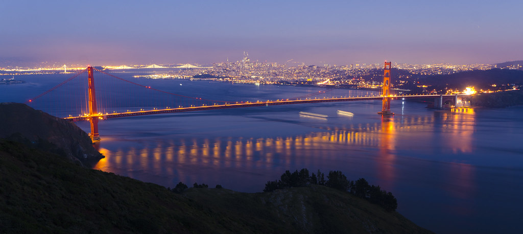 End of the Blue Hour: San Francisco