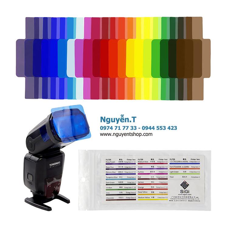 Bộ gel flash Sigi hiệu ứng 20 màu Strobist