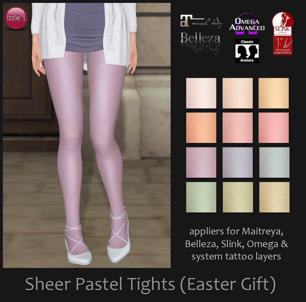 Sheer Pastel Tights (Easter Gift) - TeleportHub.com Live!