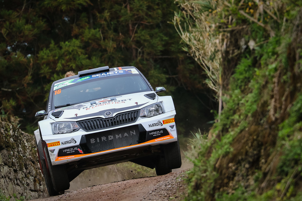 16 PTASZE Hubert (pol), SZCZEPANIAK Maciel (pol), SKODA FABIA R5, action during the 2018 European Rally Championship ERC Azores rally,  from March 22 to 24, at Ponta Delgada Portugal - Photo Jorge Cunha / DPPI