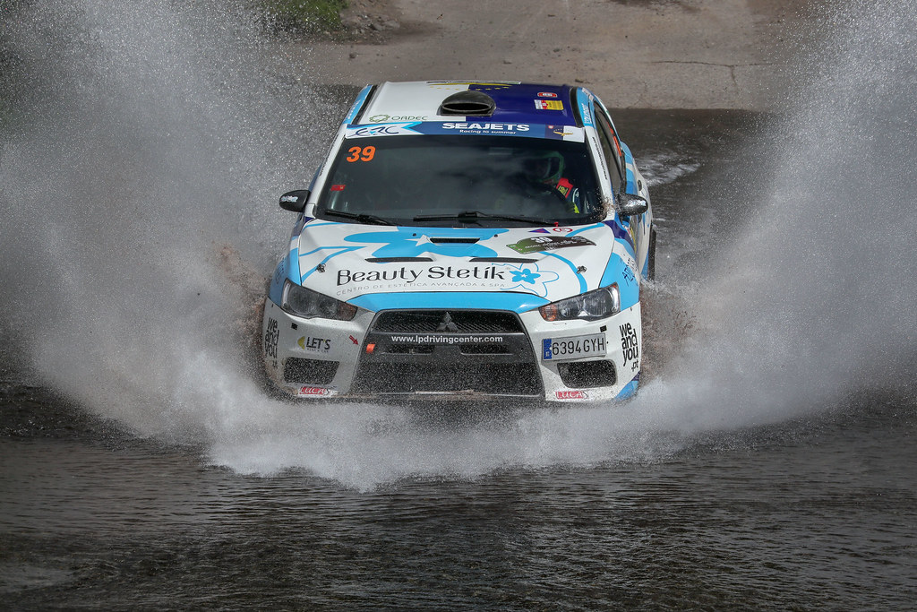 39 PIMENTEL Luis (prt), MOURA Nuno (prt), MITSUBISHI LANCER EVO X, action action during the 2018 European Rally Championship ERC Azores rally,  from March 22 to 24, at Ponta Delgada Portugal - DPPI