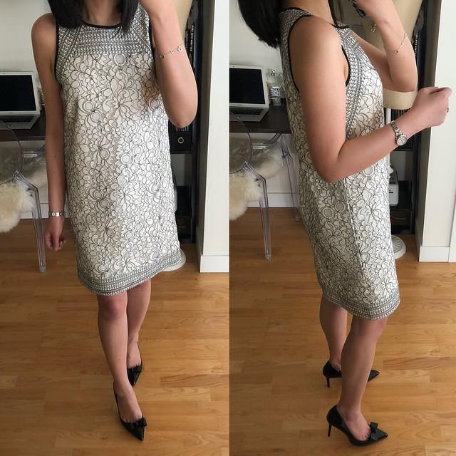 LOFT Shadow Floral Lace Dress, size 00 regular