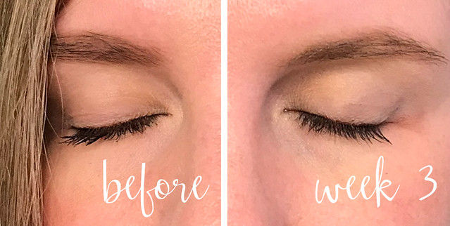 before and week 3 lashes_makeup eyes closed