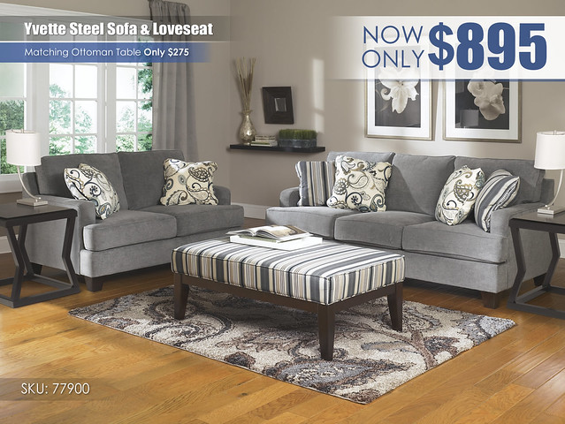 Yvette Steel Living Set_77900-38-35-08-T592