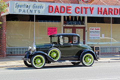 Ford Model A Coupe Parked by Hardware Store, Dade City