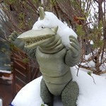 kaiju in the snow