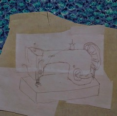 Working on Gwen's sewing machine...